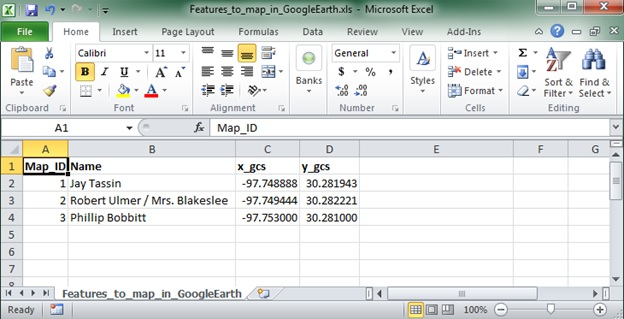 How to map points from Excel in Google Earth Pro | Environmental Prose